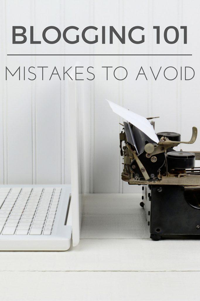 Blogging 101 Mistake