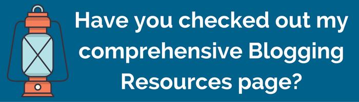 Blogging 101 Resources