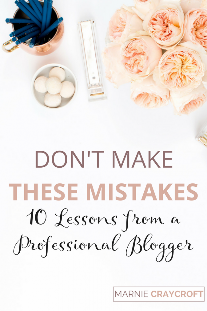 Blogging Lessons and Mistakes