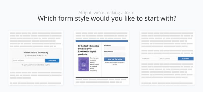 Which ConvertKit Form?